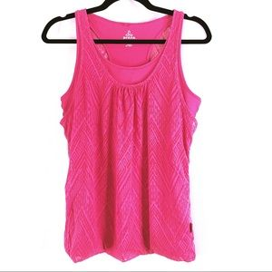 Prana Womans Pink Double Layer Tank Top Size Small